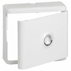 Habillage + porte blanche pour platines de branchement DRIVIA - 401185 - LEGRAND
