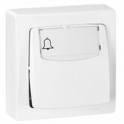 Poussoir porte-étiquette Appareillage saillie complet 6A blanc - 086009