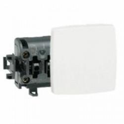 Poussoir 6A Appareillage saillie composable blanc - 086106