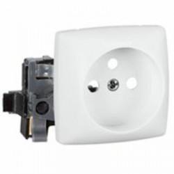 Prise de courant 2P+T à bornes automatiques Appareillage saillie composable - blanc - 086127