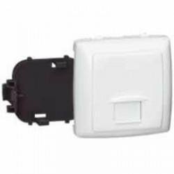 Prise RJ45 numéris ou internet 8 contacts Appareillage saillie composable - blanc - 086133