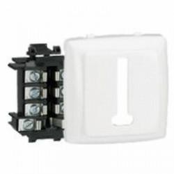 Prise téléphone 8 contacts Appareillage saillie composable - blanc - 086138
