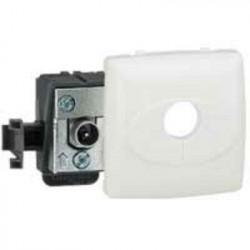 Prise télévision simple mâle Appareillage saillie composable - blanc - 086140
