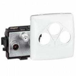 Prise TV-R-SAT Appareillage saillie composable - blanc - 086142