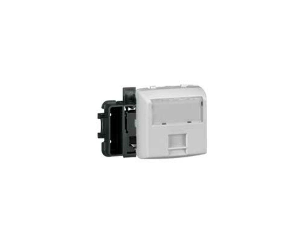 Prise RJ45 catégorie6 FTP Appareillage saillie composable - blanc - 086147