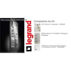 PACK Tableau électrique 4 rangées, GTL et Coffret de communication LEGRAND