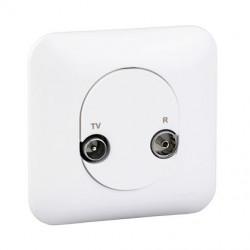 Ovalis - prise TV/FM - 1 entrée - Blanc RAL9003 - fixation par vis - S260451