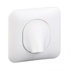 Ovalis - sortie de cable - 16A - 2 connecteurs - fixation vis - blanc - S260662