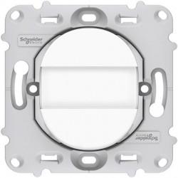Ovalis - poussoir à fermeture - porte-étiquette - 10A - à griffes - avec plaque - S265266
