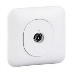 Ovalis - prise TV - fixation avec griffes - Blanc RAL9003 - S265405