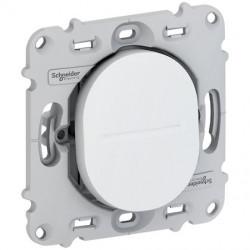 Ovalis - bouton poussoir à fermeture - 10A - fix. par vis - ss plaque de finit. - S261206