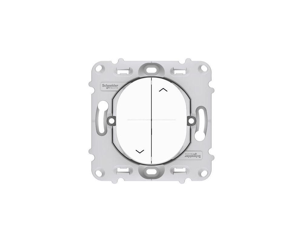 Ovalis - interrupteur 2 boutons pour volet roulant - fix. par vis - S261208