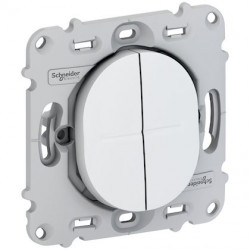 Ovalis - double poussoir - 10A - fix. par vis - sans plaque de finition - S261216