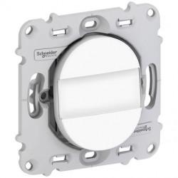 Ovalis - poussoir à fermeture - porte-étiquette - 10A - sans plaque de finition - S261266