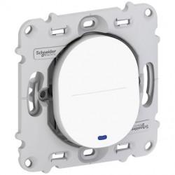 Ovalis - poussoir à fermeture - 10A - LED bleu 250V - sans plaque de finition - S261276