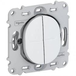 Ovalis - combiné va et vient+poussoir - 10A - sans plaque de finition - S261285