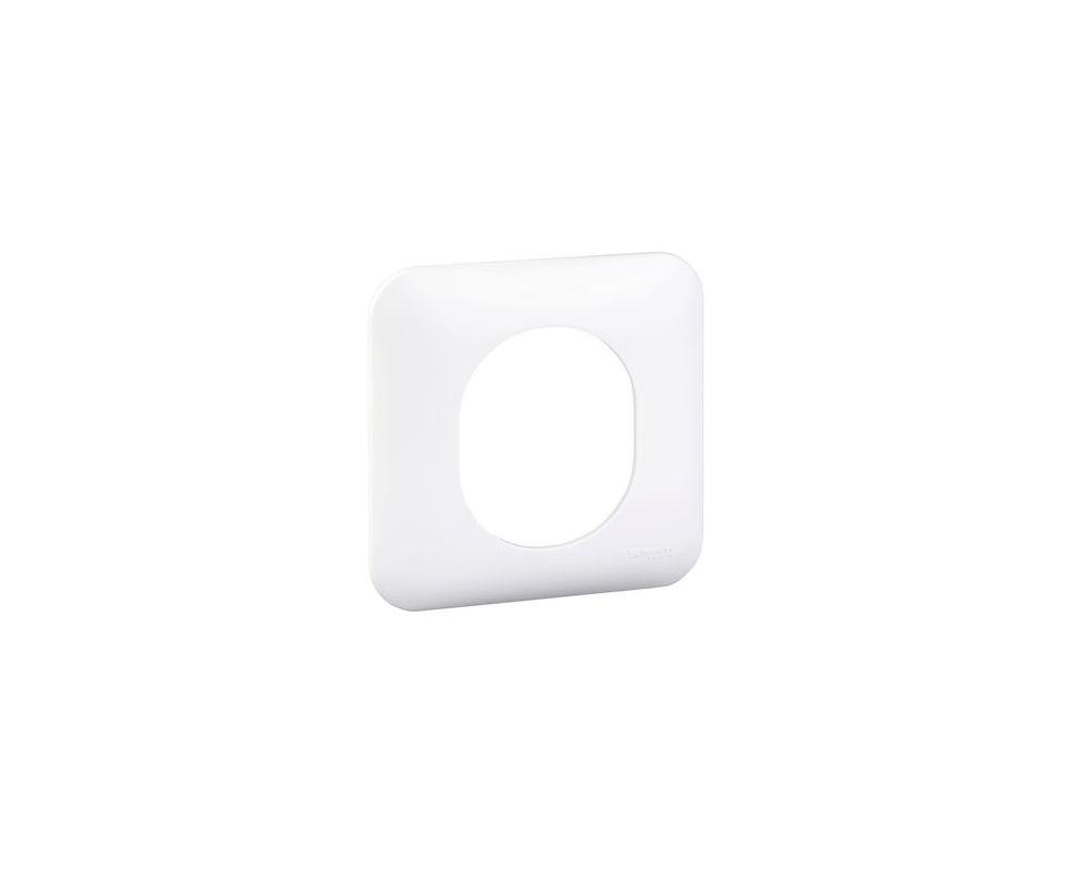 Ovalis - Plaque de finition blanche (RAL9003) - 1 poste - S260702