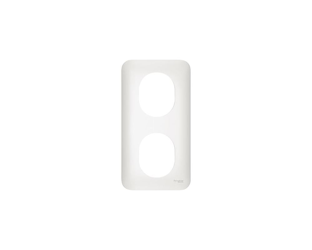 Ovalis - plaque de finition - 2 postes vertical - entraxe 71mm - S260724