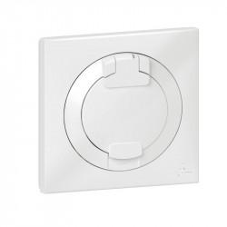 Prise de courant 2P+T à puits dooxie 16A IP44 livrée avec plaque carrée blanche - 600344