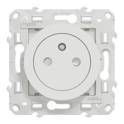 Odace - prise de courant 2P+T affleurante - S520052 - SCHNEIDER
