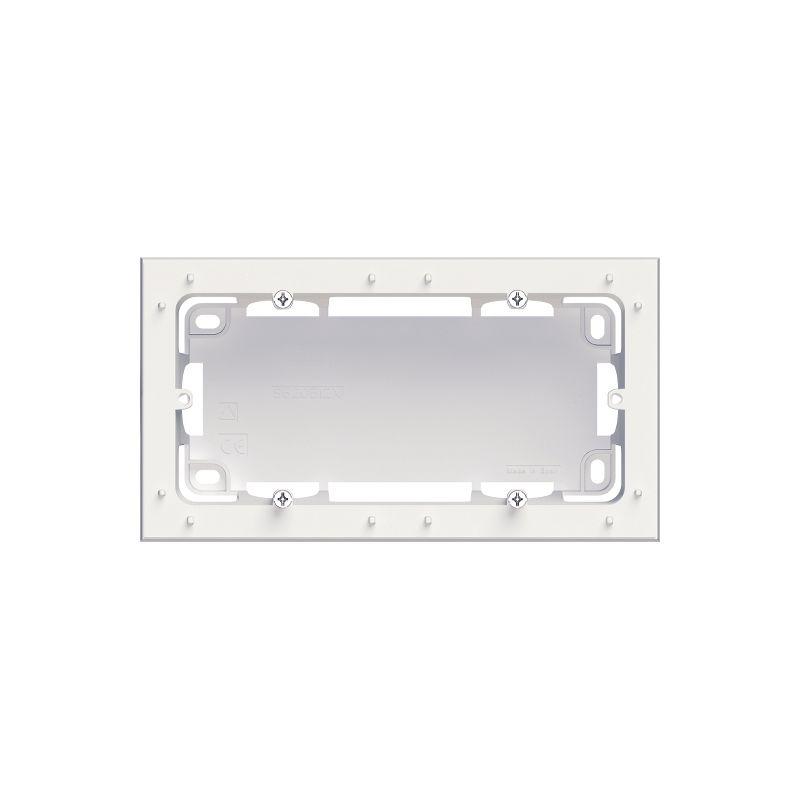 Boite pour montage saillie blanc 2 postes - Schneider Odace - S520764