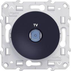 Odace - Prise TV Anthracite à vis - S540445