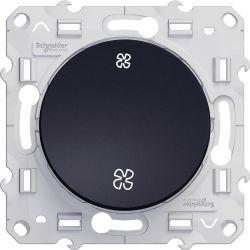 Odace - Interrupteur VMC Anthracite sans position arrêt à vis - S540233