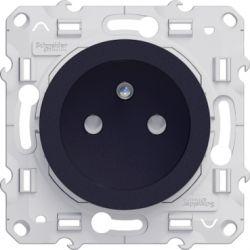 Odace - Prise de courant 2P+T Anthracite à vis connexion rapide - spéciale rénovation - S540049
