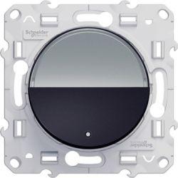 Odace - Poussoir Anthracite avec porte étiquette à vis - S540266