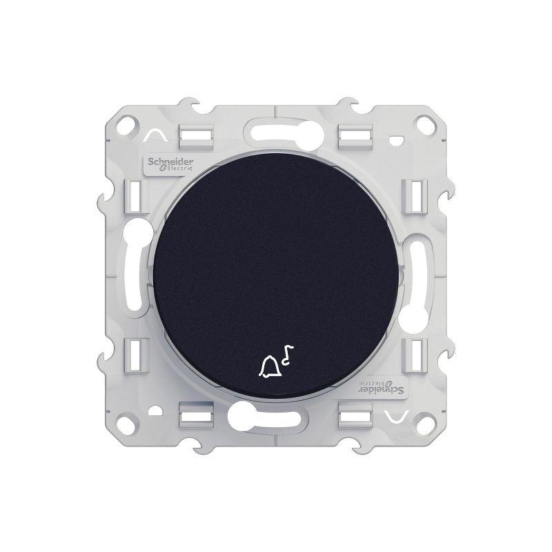 Odace - Poussoir Anthracite 10A à fermeture - symbole carillon - S540246