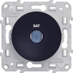 Mécanisme Odace Anthracite -Prise SAT - Schneider Odace - S420446