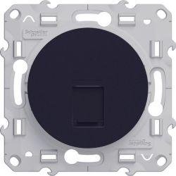 Odace - Prise RJ45 anthracite grade 1 (téléphone + informatique) cat. 6 UTP à vis - S540475
