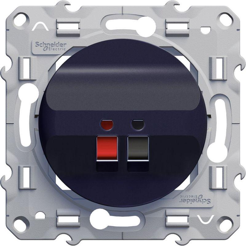Odace - Prise haut parleur 1 sortie Anthracite - S540487