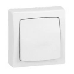 Poussoir 6A Appareillage saillie complet - blanc - 086006