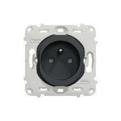 Ovalis - prise de courant - 2P+T - 16A - sans plaque de finition -Anthracite- S461059