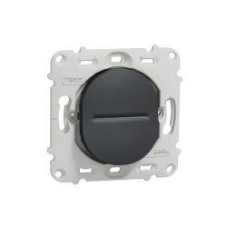 Ovalis - interrupteur va et vient - 10AX - à vis - sans plaque-Anthracite- S461204