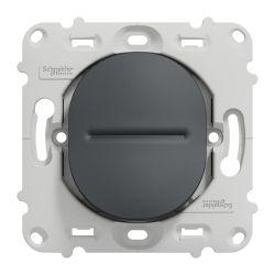 Ovalis - bouton poussoir à fermeture - 10A - à - sans plaque -Anthracite- S461206