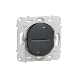 Ovalis - interrupteur 2 boutons pour volet roulant - fix. par vis -Anthracite- S461208