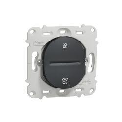 Ovalis - poussoir VMC - sans arrêt - sans plaque de finition -Anthracite- S461236