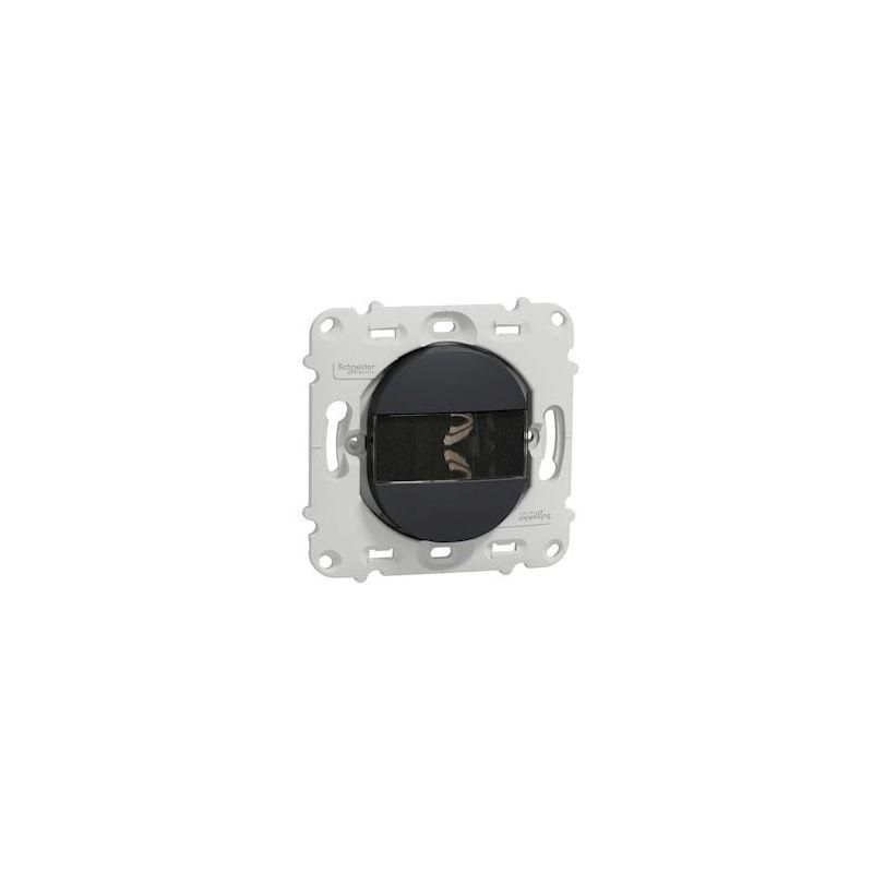 Ovalis - poussoir à fermeture - porte-étiquette - 10A - sans plaque -Anthracite- S461266