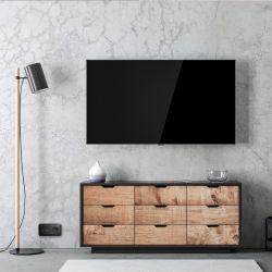 Ovalis - prise TV simple - sans plaque de finition -Anthracite- S461405