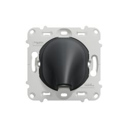 Ovalis - sortie de câble - 16A - Ø6..12mm - sans plaque-Anthracite- S461662