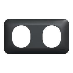 Ovalis - Plaque de finition - 2 postes horizontal -Anthracite- S460704