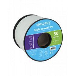 Câble coaxial 17 VAtCA triple blindage - 50ml- 032078