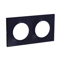 Odace Styl, plaque Anthracite 2 postes horiz./vert. entraxe 71mm - S540704