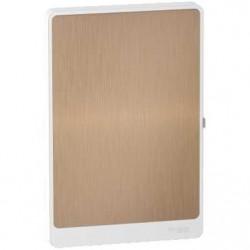 Resi9 - porte touch bronze coffret 13M - 4R - R9H13424L