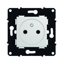 Prise 2P+T affleurante 16A  Espace Evolution - blanc - 64034