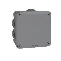 SCHNEIDER ENN05005 - Boite de dérivation à embouts 105x105x55, gris