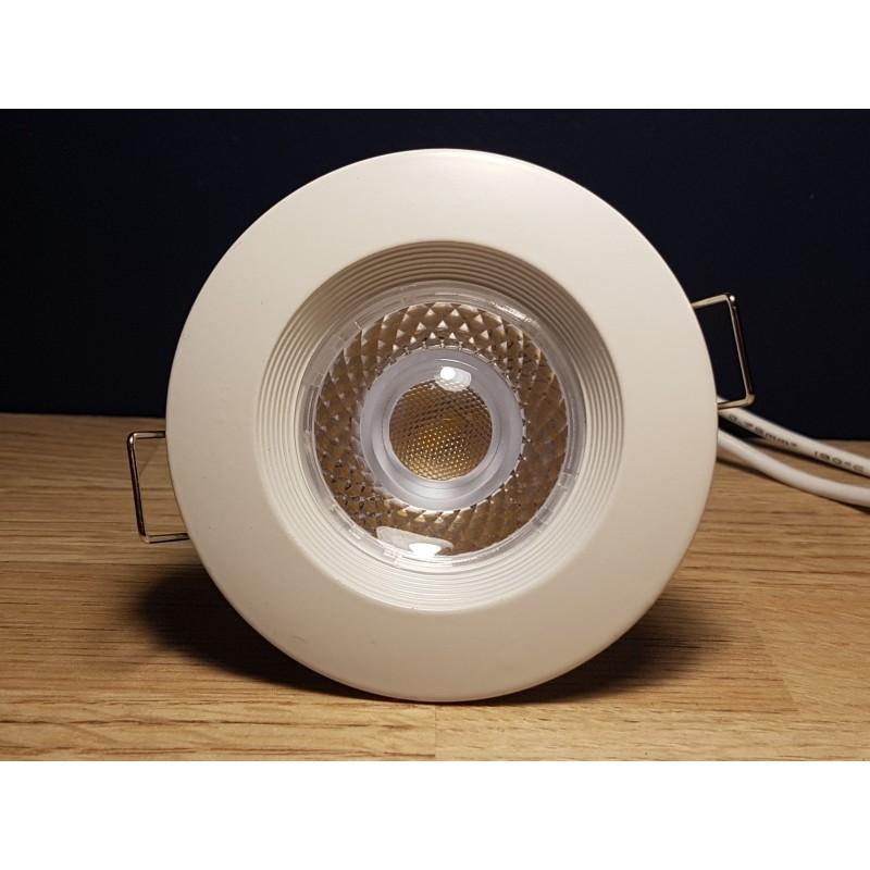 spot blanc fixe gu10lampe 6w led incluse e planetelec. Black Bedroom Furniture Sets. Home Design Ideas