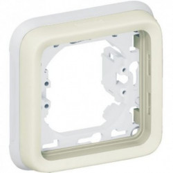 PLEXO - Support de plaque BLANC 1 poste - LEGRAND 069692